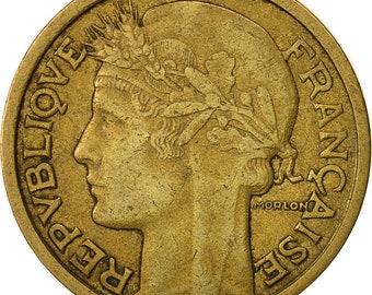 france morlon franc 1934 paris vf(30-35) aluminum-bronze km885
