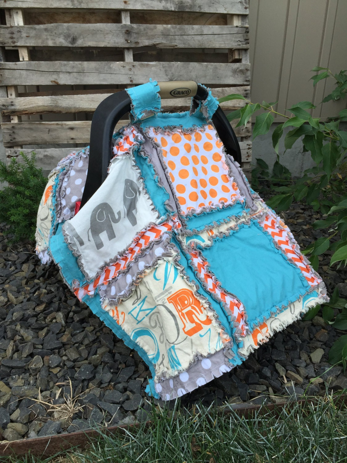 How To Make A Rag Quilt Car Seat Cover