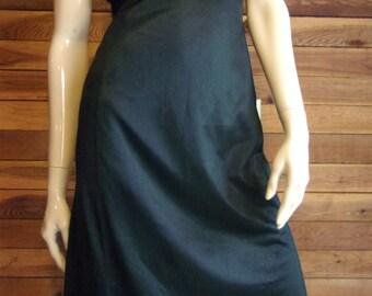 Vintage Lingerie 1960s MOVIE STAR Black Size 34 Tall Full Slip