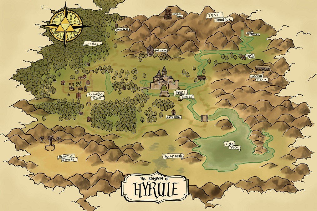Map Of Hyrule The Era Of Light And Dark - Map od