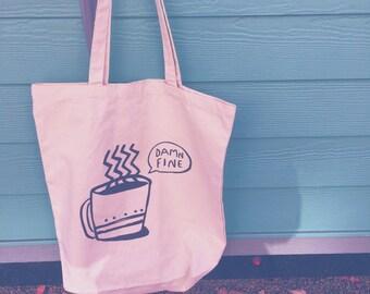 damn fine coffee twin peaks fan cotton canvas tote bag