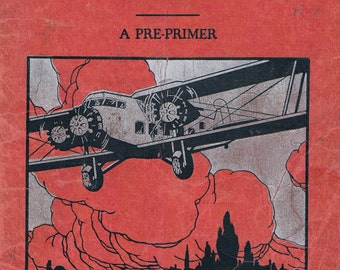 TED'S AIRPLANE RIDE, a Vintage Primary School Reading Book, 1937