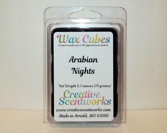 Arabian Nights Scented Wax Melts, Wax Cubes, Wax Tart, Wickless Candle, Melting Wax, Wax Melt, Scent Bar, Scent Cube, Wax Bar