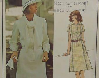 Vintage Vogue Paris Original Pierre Balmain Misses Dress Size 14