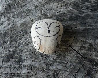 Beach Pottery Owl - Totem, Animal Medicine, Spirit Animal