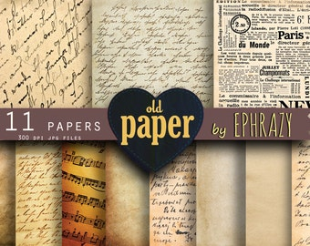 Old digital paper. Vintage paper. Old paper digital. Antique paper. Distressed paper. Letter digital paper. Writing paper