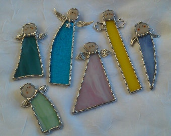Stained Glass Angel Suncatcher Ornaments
