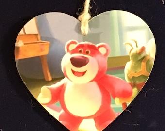 Toystory lotso hugging bear Decoupaged wooden plaque handmade