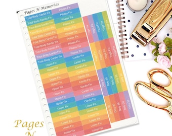 21 Day Fix Exercise Planner Stickers/ Health Stickers/ Erin Condren/ Plum Paper/ Inkwell Press/ Sew Much Crafting  #024