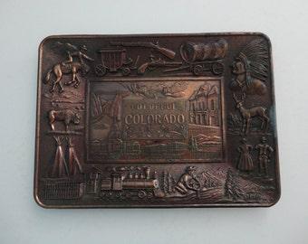 VINTAGE 'colorful COLORADO' souvenir TRAY