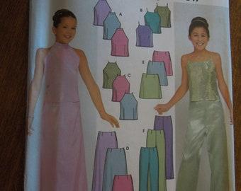 Simplicity 9729, sizes 7-16, girls, top, skirt, pants, teens, UNCUT sewing pattern