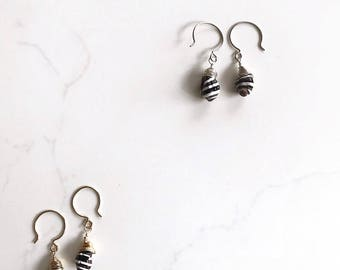Handmade Earrings / Seashell Earrings / Sterling Silver Earrings / Wire Wrapped Earrings / Silver Dangle Earrings / Handmade Jewelry