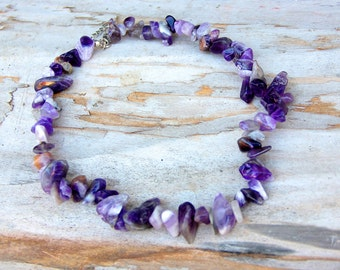 amethyst  Jewelry Gemstone Jewelry birthstone Jewelry  Gemstone necklace amethyst necklace February birthstone necklace Boho amethyst stone