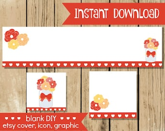 Blank diy etsy shop set gold floral do it yourself blank blank diy etsy shop set thanksgiving jar do it yourself shop set blank etsy cover icon graphic fall etsy set instant download solutioingenieria Gallery