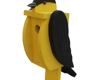 Amish Made Bird House - Goldfinch Shaped House - Free Shipping