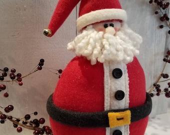 Santa, Santa Claus,Santa shelf sitter,Christmas decor,Winter decor,Holiday decor,Country Santa,Primitive Santa
