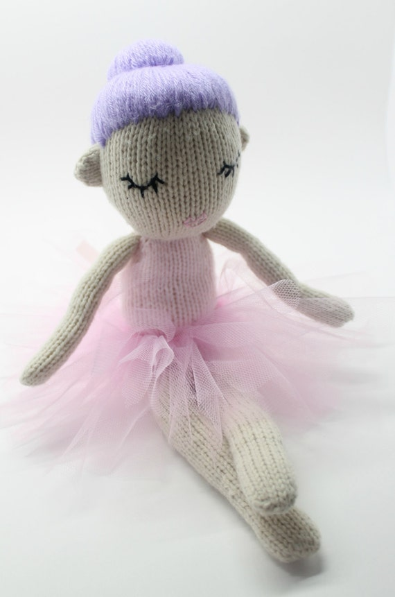 Knitted Doll Pattern Pdf Knitting Pattern Hazel The Dancing