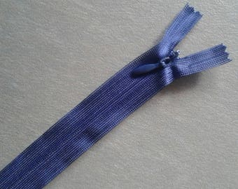 2 20 cm invisible zippers Navy blue color