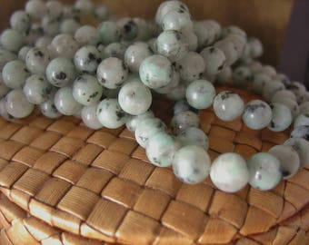 8mm Round Sesame Jasper Stone Beads (14 inch strand)