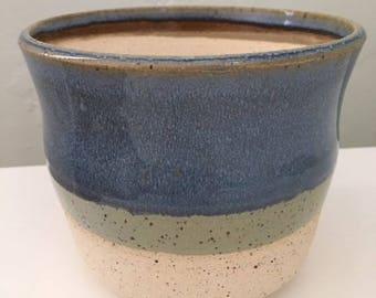 Blue planter, Handmade Planter, Blue pot, Succulent Planter, Ceramic Planter, Planter, Orchid Pot, Cactus Planter,Modern Planter