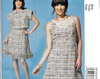 McCall's M7280 Sleeveless Dress And Jacket Sewing Pattern 7280 UNCUT Plus Size 16, 18, 20, 22, 24