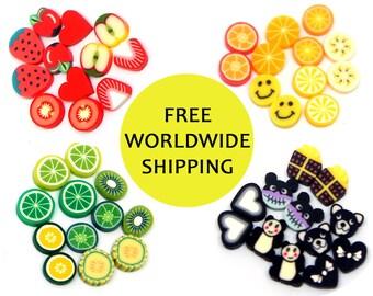 FREE SHIPPING Baby Miniature Studs Earrings Set - Set of six - Fruit Earrings Set