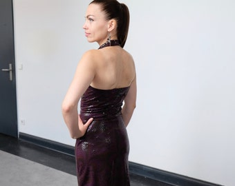 Tango & Salsa dress Moscú purple Gr. S-M