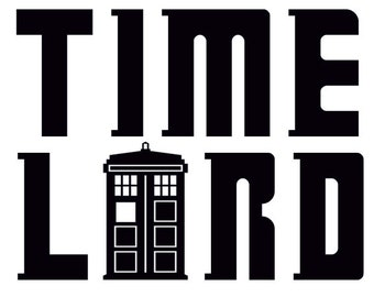 Time Lord decal sticker Doctor Who