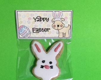 Easter baskets dog etsy homemade iced peanut butter easter dog treats for medium to large dogs made in the negle Choice Image