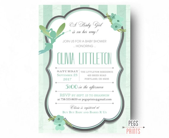 Fairy baby shower invitation fairy garden baby shower filmwisefo Images