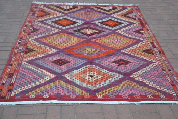 Teppichgrößen bunte türkische teppich 5 x 9 vintage kelim teppich großen