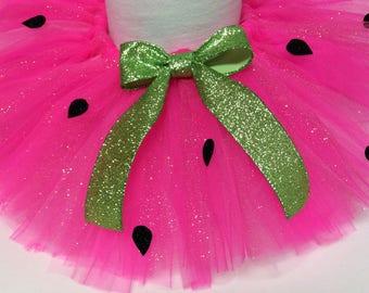 watermelon glitter tutu, pink watermelon tutu, birthday tutu, colorful tutu, watermelon birthday, 1st birthday, baby tutu, watermelon skirt