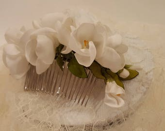 Flower from hair fabric