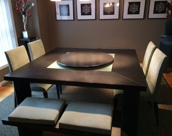 Low Profile Wood Lazy Susan For Dining Table