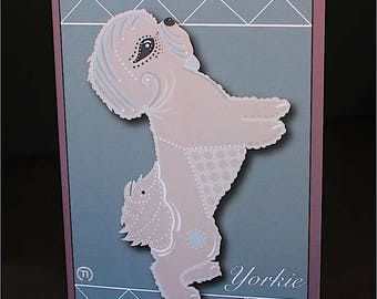 "Yorkie #1 4.25"" x 6"" Blank Greeting Card"
