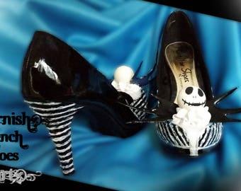 Customised Nightmare Before Christmas NBC Jack Skellington Inspired Heels