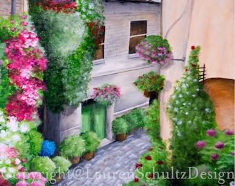 Flowered Alley Print