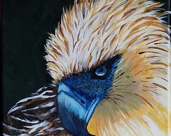 Eagle Acrylic Painting, 11x14 stretched canvas