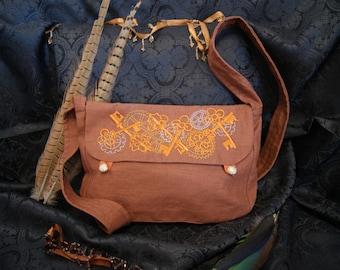 Big shoulder bag-great shoulder bag-steampunk keys