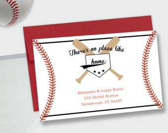 Baseball Moving / New Address Announcement - There's No Place Like Home - DEPOSIT