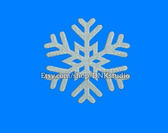 Snowflake Machine Embroidery Design - 6 Sizes - INSTANT DOWNLOAD
