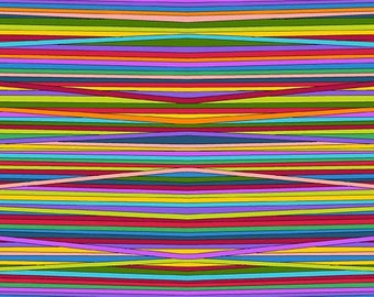 Rainbow Stripes, Blind, Narrow, Wavy Rainbow Stripes, Holiday Tweets by Kim Schaefer for Andover