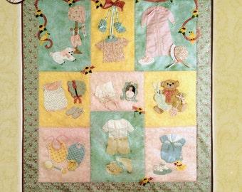 Baby Quilt Pattern, Rosebuds & Baby's Breath, Block Of The Month Quilt Patterns, Baby Quilt Kit