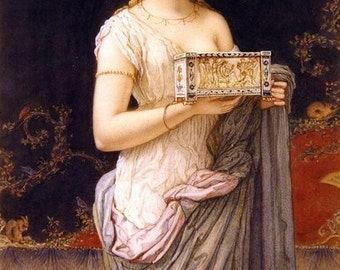 Pompeian Girl - Counted cross stitch pattern in PDF format