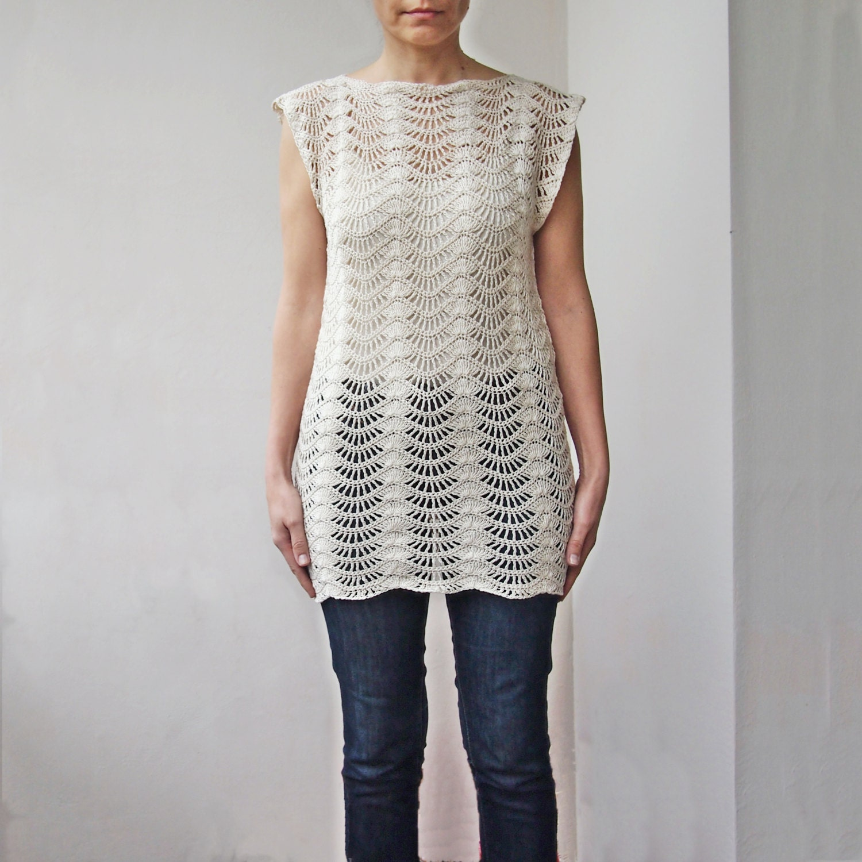 Crochet Pattern chevron sweater tunic, ripples top, waves pullover ...