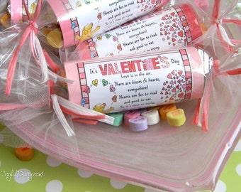 Valentine Treat Labels & Party Favors