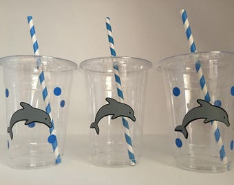 Dolphin Party Cups, Ocean Party Cups