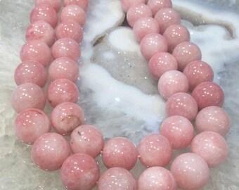50% Mega Sale 15mm Baby Pink Morango Quartz Beads