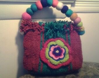 Mini textile handbag