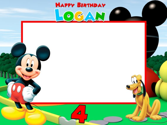 mickey and friends birthday frames mickey photo booth frame frame prop photobooth props photo props mickey mouse club house - Mickey Mouse Photo Frame